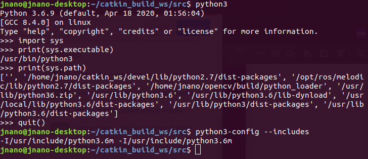 Finding python3 path