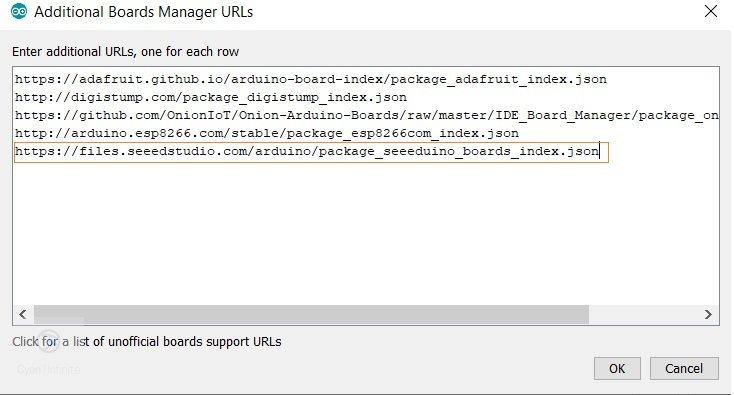 Board Manager URL list